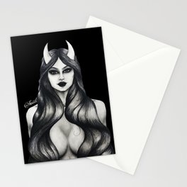 The Devil You Know (Black) Stationery Cards