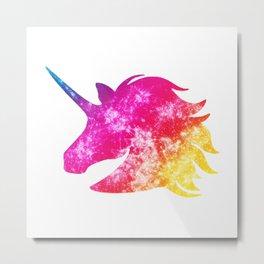 Sparkles the Unicorn Metal Print