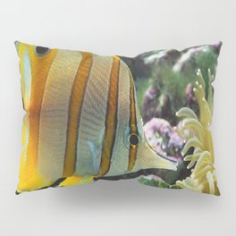 Yellow Longnose Butterfly Fish Pillow Sham