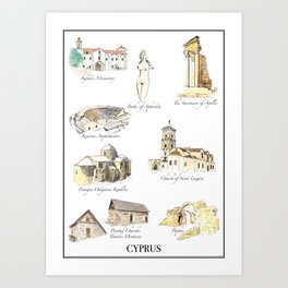 Best of Cyprus - Visit Cyprus through its most famous sites Art Print