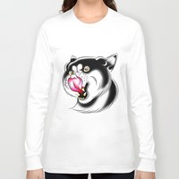 husky Long Sleeve T-shirts featuring Husky by samlbrown
