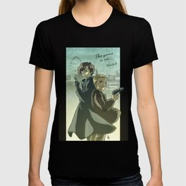 Sherlock Holmes and John Watson - The Game is On T-shirt