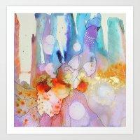Dame plume Art Print