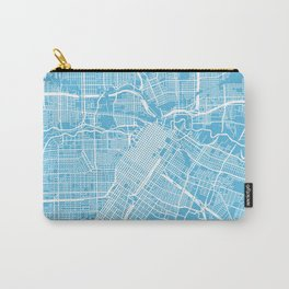 Houston map blue Carry-All Pouch
