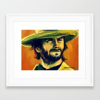 clint eastwood Framed Art Prints featuring Clint Eastwood by GrungeCookie