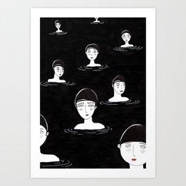 les baigneuses Art Print