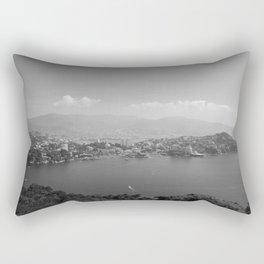 Black and White Acapulco Rectangular Pillow