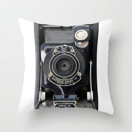 Vintage Autographic Kodak Jr. Camera Throw Pillow
