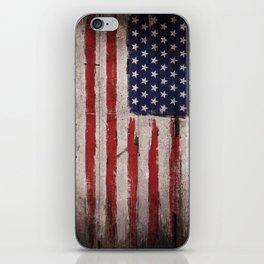 Wood American flag iPhone Skin