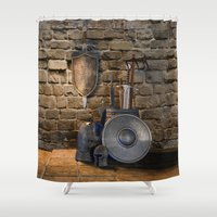 medieval Shower Curtains featuring Medieval Weaponry by FantasyArtDesigns