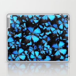 Blue and Black Butterflies Laptop & iPad Skin