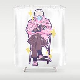 Bernie Sitting In A Chair Shower Curtain