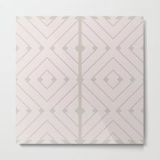MONO:CHROMA Geometrica Earthy Pink II Metal Print