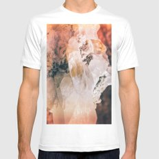 Dreamy Large Quartz Crystals White Mens Fitted Tee MEDIUM
