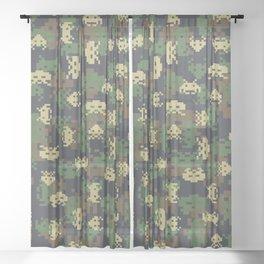 Invaded Camo WOODLAND Sheer Curtain