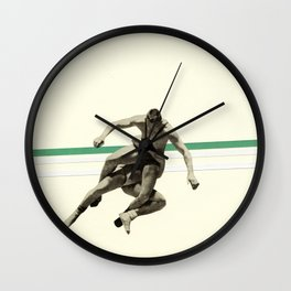The Wrestler Wall Clock