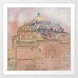 Rajasthan India Temple Sunrise Art Print