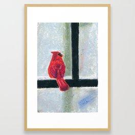 Its cold outside! Framed Art Print
