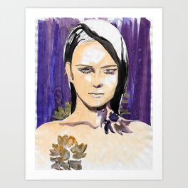 Purple beauty fashion lllustration Art Print
