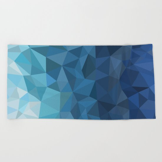 blue geometric Beach Towel