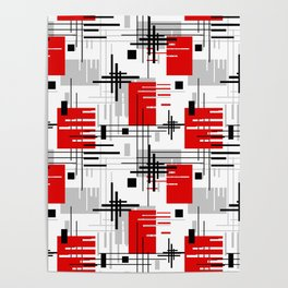 Abstract pattern Retro 3 Poster