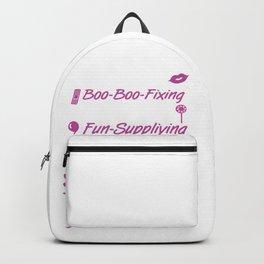 Kiss-giving Story-telling Grandkid-spoiling Nana Backpack