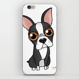 Boston Bull Terrier Dog iPhone Skin