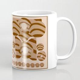 Stripe it tan and brown Coffee Mug