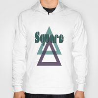 square Hoodies featuring Square by Herzensdinge