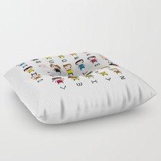Pixel Star Trek Alphabet Floor Pillow