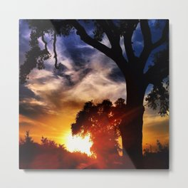 Visalia Sunset Metal Print
