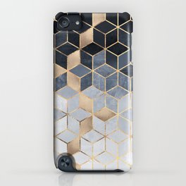 Soft Blue Gradient Cubes iPhone Case