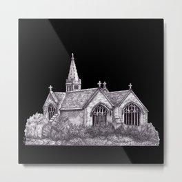 All Saints Parish Church (on black( Metal Print