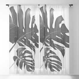 Tropical Monstera Finesse #2 #minimal #decor #art #society6 Sheer Curtain