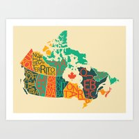 canada Art Prints featuring Canada by Mohit Gupta