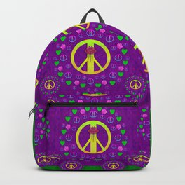 Peace be with us in love and understanding Backpack