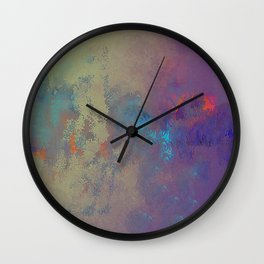 Industral Abstract, Cooling and Burning Metal Wall Clock