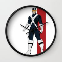 cyclops Wall Clocks featuring Cyclops by Andrew Formosa