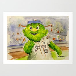 Orbit - Astros mascot Art Print