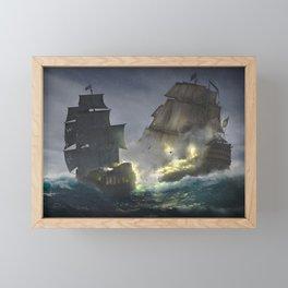 Pirates! (The battle) Framed Mini Art Print