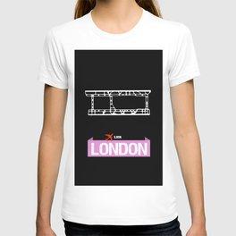 Fly me to London LHR - England United Kingdom Heathrow International Airport Code Runway Map  T-shirt