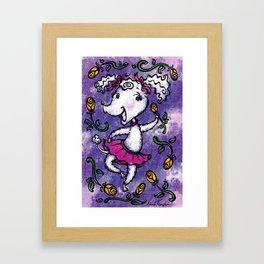 Perky Poodle Framed Art Print
