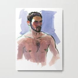 COLBY, Semi-Nude Male by Frank-Joseph Metal Print