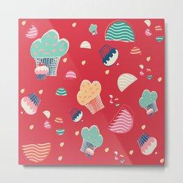 Cupcake red Metal Print
