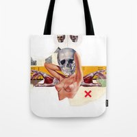 boob Tote Bags featuring The Boob by Molokid
