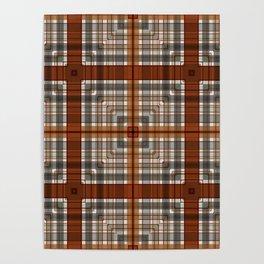 Multi Square Tile Pattern Design Poster