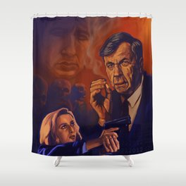 I Want To Believe - Cigarette Smoking Man - Trust No One - The Truth Is Out There Shower Curtain