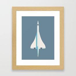 Concorde Supersonic Jet Airliner - Slate Framed Art Print