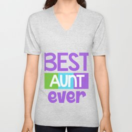 Family Tree Kinship Ancestry Household Love Bloodline Ancestors Best Aunt Ever Aunts Gift Unisex V-Neck