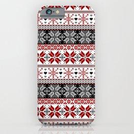 Winter Fair Isle Pattern iPhone Case